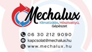 mechalux névjegy kártya